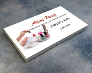 Alina Perez Nail Care Business Cards naples FL