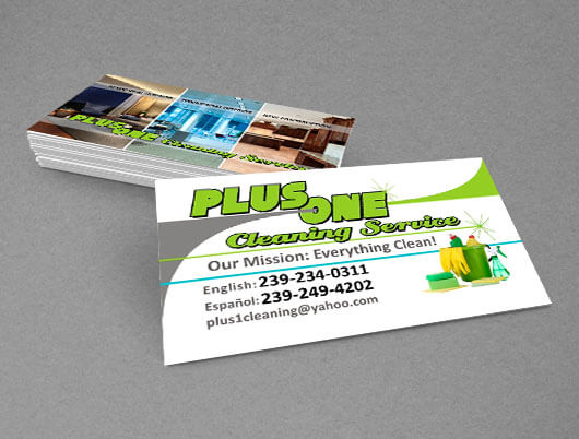 Tarjetas de Presentación Business Cards naples FL cleaning service