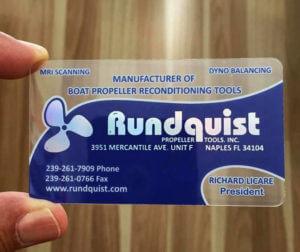 Quality Plastic Business Cards Naples Fl Rundquist Propeller