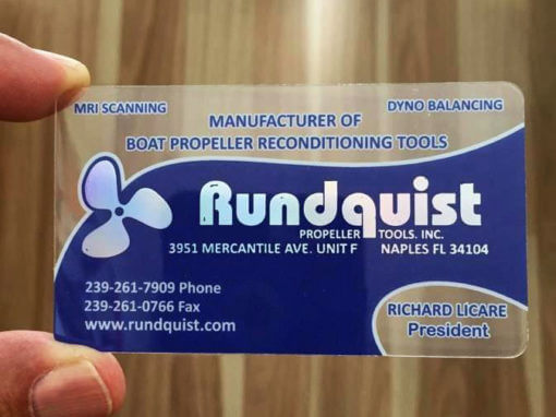 Quality Clear Plastic Business Cards Naples Fl Rundquist Propeller