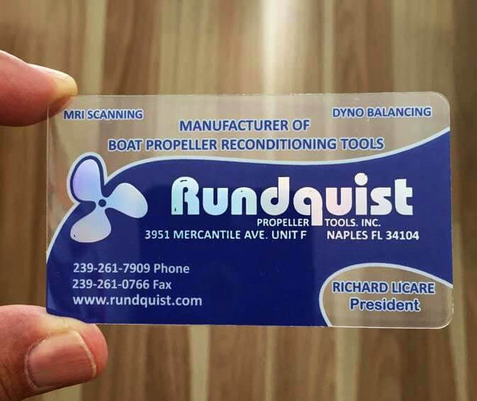 Quality Plastic Business Cards Naples Fl Rundquist Propeller