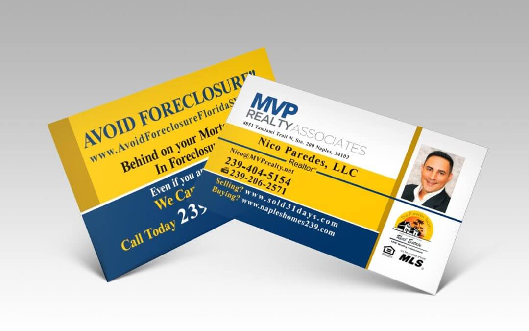 Tarjetas de Presentación Real State Business Cards Naples Fl For Realtors And Property Agents - Mvp Realty