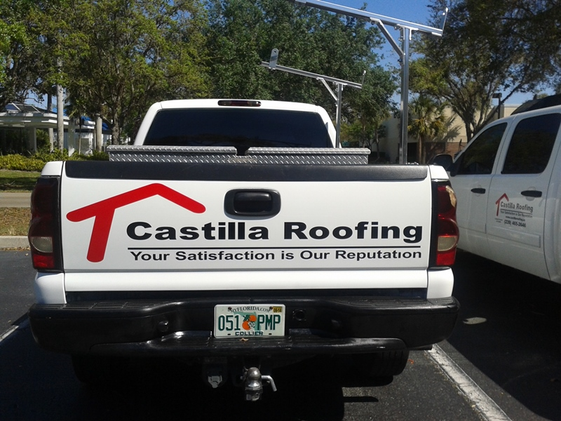 Vehicle Graphic Naples FL-castilla truck