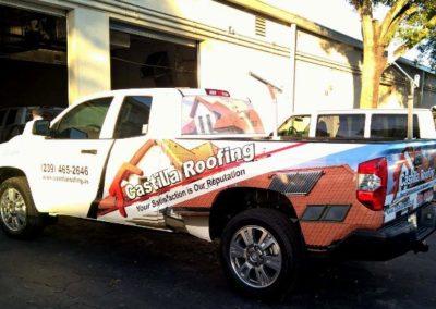 pickup truck castilla roofing semi wraps