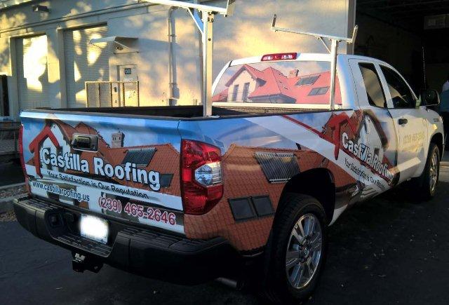 pickup truck semi wraps 3 castilla roofing