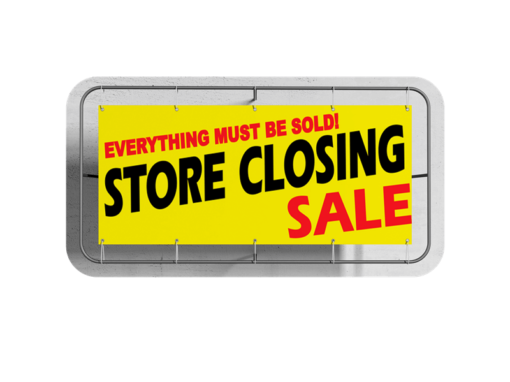 Store Closing Custom Business Vinyl Banner