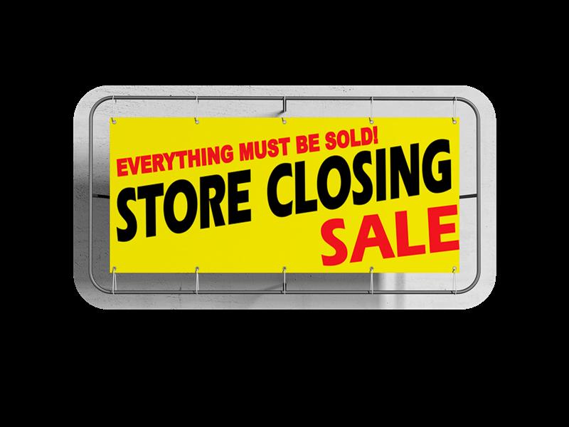 store closing custom business vinyl banner