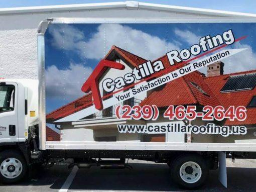 Truck Wraps Castilla Roofing